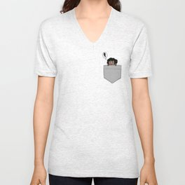 Embarrassed Tiny Pocket!Taire Unisex V-Neck