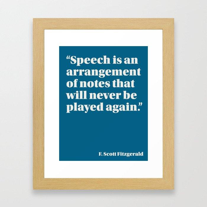 Fitzgerald on Speech Framed Art Print