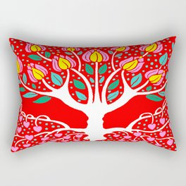 Love Grows Forever - Tomato Red Rectangular Pillow