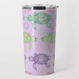 Turtles Patern for Kids Rooms Travel Mug