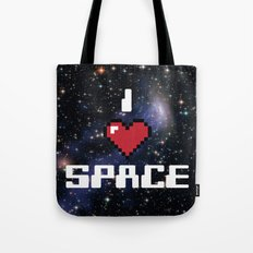 I Heart Space Retro Galaxy Tote Bag