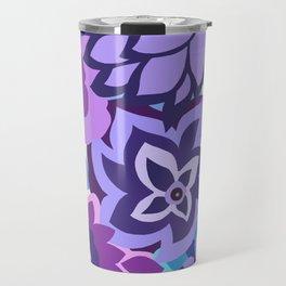 CAMBRIA, ART DECO FLORALS: NEWPORT BLUES Travel Mug