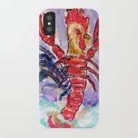cock iPhone & iPod Cases featuring Cock Lobster by Taylor Winder