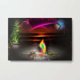 Our world is a magic - Sunset Metal Print