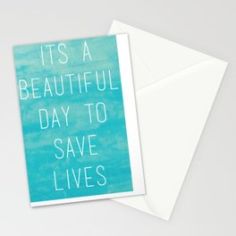 Grey's Anatomy McDreamy Quote Stationery Cards