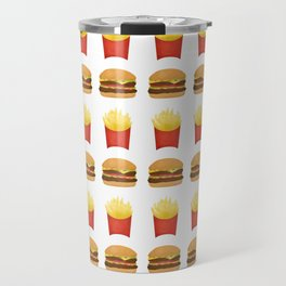 Burgers and Fries Pattern Travel Mug