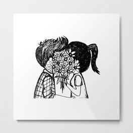 Hidden Kisses Metal Print