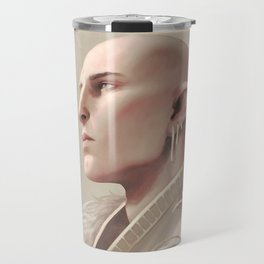 White wolf Travel Mug