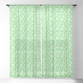 Cucumber pattern Sheer Curtain