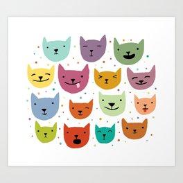 Cat Confetti Art Print