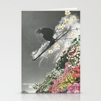 skiing Stationery Cards featuring Spring Skiing by Sarah Eisenlohr