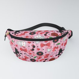 Rockabilly 50s Rock and Roll Vintage Pattern Fanny Pack