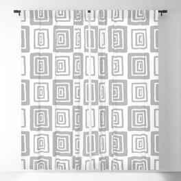 Mid Century Modern Geometric Checker 821 Gray Blackout Curtain