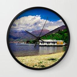Golden Beach Wall Clock
