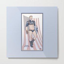 Steve Rogers Not So Stealth Suit Metal Print