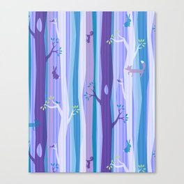 Purple Woodland Stripe Canvas Print