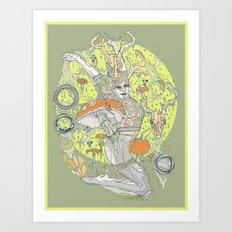 musgo oliva Art Print