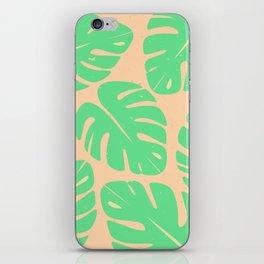 Monstera Leaf Print 3 iPhone Skin