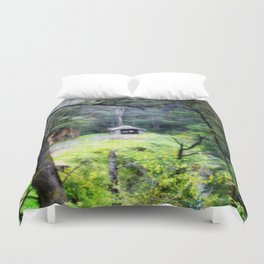 Old train Depot Duvet Cover