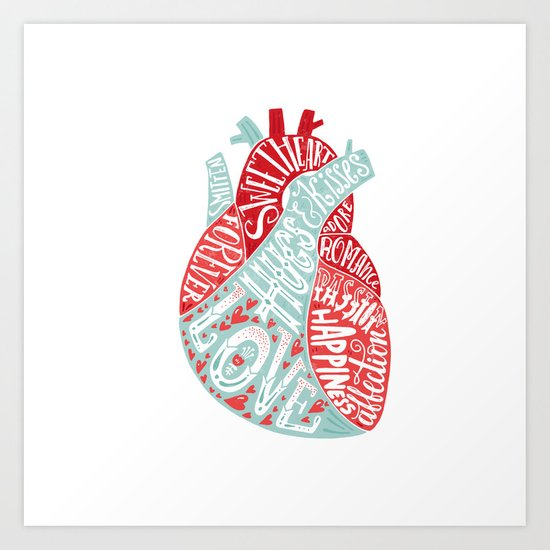 Letters of Love Art Print