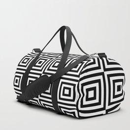 Square Target Black White 8x8 Chessboard Duffle Bag