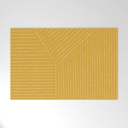 Lines / Yellow Welcome Mat