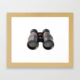 Vintage binoculars Framed Art Print