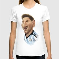 messi T-shirts featuring Messi - Argentina by Sant Toscanni