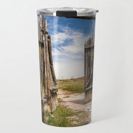 Historic Fort Bridger Gate - Wyoming Travel Mug