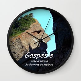 Rocher Tete d'Indien - Indian Head Rock Wall Clock
