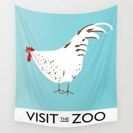 Visit the Zoo Hen edition Wall Tapestry