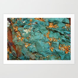 Gold and Copper Art Print