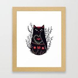 Russian kitty Framed Art Print