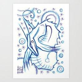 Blue Star Art Print