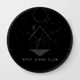 Stay Home Club - Full Moon Wall Clock