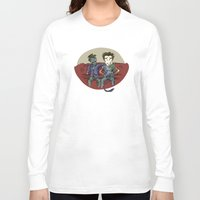 resident evil Long Sleeve T-shirts featuring playing resident evil by Toubab