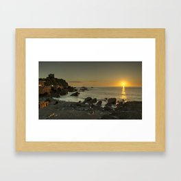 Ilfracombe beach Sunset Framed Art Print