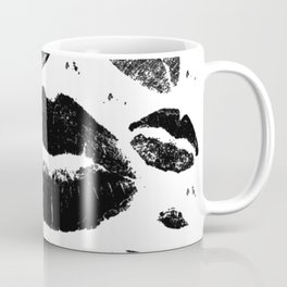 Kisses All Over (Black & White) Coffee Mug