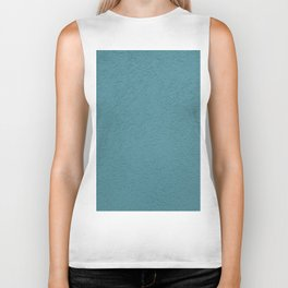 Abstract solid color turquoise wall texture Biker Tank