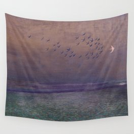'under every deep a lower deep opens' Wall Tapestry