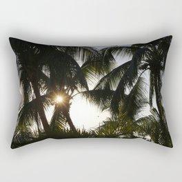Dominican Palm Trees Rectangular Pillow