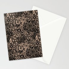 Bronze nude with black lace Stationery Cards