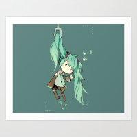 初音ミク(Hatsune Miku) Art Print
