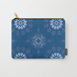 Classic Blue Mandala Carry-All Pouch