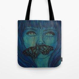 Blue Woodengirl  Tote Bag
