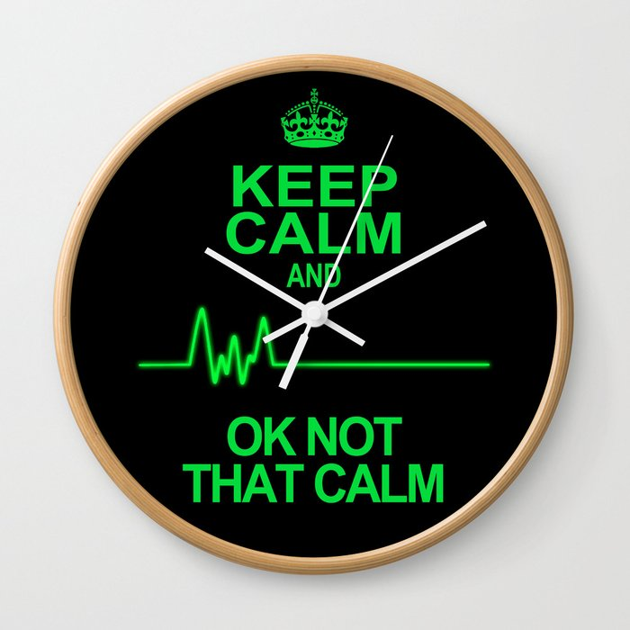 Keep Calm Wall Clock by alicegosling