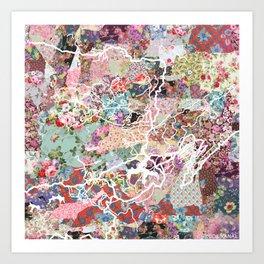Kodaikanal map Art Print