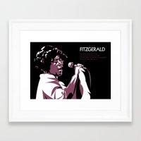 fitzgerald Framed Art Prints featuring ELLA FITZGERALD POSTER by Paweł Kamiński (pawjanka)