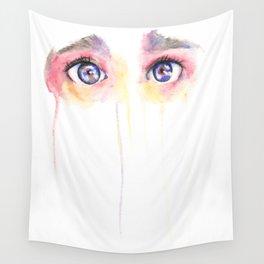 Sad Eyes Wall Tapestry