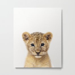 Baby Lion, Baby Animals Art Print By Synplus Metal Print